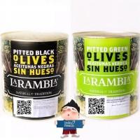 La Rambla Zaitun Olive Non Biji- Pitted Olives in Brine 3Kg