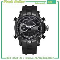 669 Weide Jam Tangan Digital Analog Pria Strap Silicone - WH6902 - Bla