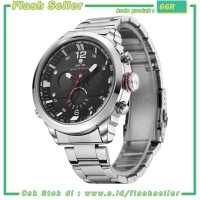 66R Weide Jam Tangan Analog Strap Stainless Steel - WH6303 - Silver Bl