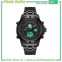 66C Weide Jam Tangan Digital Analog Pria - WH6906 - Black/Black