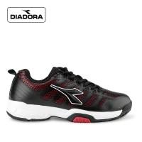 Sepatu Diadora Pria Haker Sneakers Running Black Original