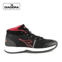 Sepatu Diadora Pria Bound Sports Sneakers Kasual Black red Original