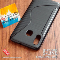 Soft Jelly Case Samsung A40 Softcase Silicon Silikon Casing Cover Gel