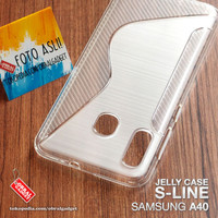 Soft Jelly Case Samsung A40 Softcase Silikon Silicon Casing Cover Gel