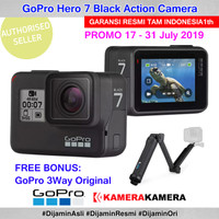 GOPRO Hero 7 Black Action Camera Resmi TAM + GoPro 3 Way Original