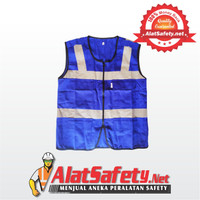 Rompi Safety Bahan Drill Biru 4 Kantong Top Quality