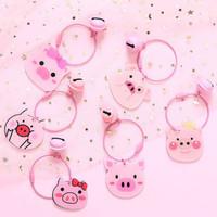 gantungan kunci tas cute pig cartoon pendant key chain agk018