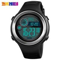 SKMEI Jam Tangan Digital Pria Pedometer Compass - 1395 - Hitam Silver