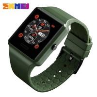 SKMEI Jam Tangan Heartrate Smartwatch Bluetooth - 1526 - Hijau Army