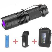 TaffLED Senter LED 395nm UV + Baterai + Charger + Box Pocketman P1