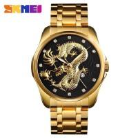 SKMEI Jam Tangan Analog Pria - 9193 - Gold Hitam