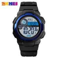 SKMEI Jam Tangan Digital Pria Pedometer Compass - 1424 - Biru Tua
