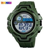 SKMEI Jam Tangan Digital Pria Pedometer Compass - 1447 - Hijau Army