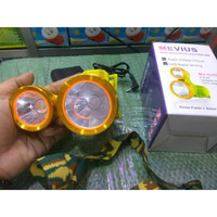 Headlamp Two Led Sinar Putih Dan Kuning