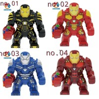 ironman Avengers Big Minifigure Super Hero Lego HulkBuster Gauntlet