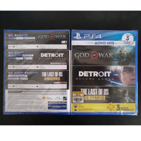 Ps4 God of War+Detroit+The Last of US R (Bundle Hits) Reg 3
