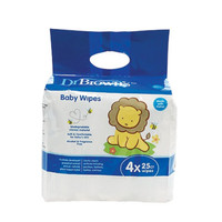 Dr. Brown's Baby Wipes 25's 4PK (HG044)