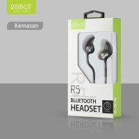 ROBOT R5 GREY BLUETOOTH WIRE EARPHONE / ROBOT MAGNETIC DESIGN SPORT