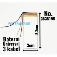 Baterai Cina Universal No.3835195 Size 8.3cm X 3cm Batre Batrei Batere