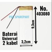 Baterai Cina Universal No.403080 Size 9.3cm X 3.2cm Batre Batrei