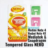 TG NERO Tempered Glass Kaca Anti Gores Redmi Note 4 4X MTK Snapdragon