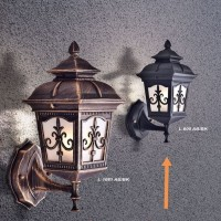 L600 Lampu Dinding waterproof outdoor retro anti hujan fiting e27