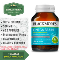 Blackmores Omega Brain High DHA Fish Oil 60 Kapsul