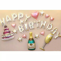 paket balon foil happy birthday adult wine