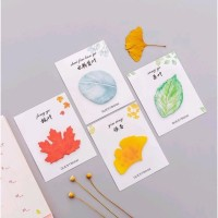 Sticky Notes / Post-It / Memo Stick Motif Dedaunan (30 Lembar)
