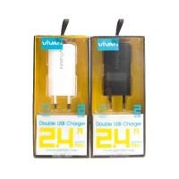 Charger Vivan 2.4 Ampare DD01 USB Charger Micro Cable