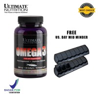Omega-3, 1000 mg, 90 Softgels - Ultimate Nutrition Official
