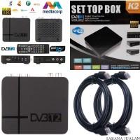 K2 SET TOP BOX Siaran TV Digital Full HD 1080p 3D WIFI (PAKET HDMI 3M)