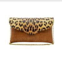 Leopard X Fianoel Clutch Wanita Leopard - Brown