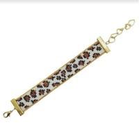 Leopard Lovers Gelang Motif Leopard - Rose Gold