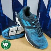 Sepatu Tenis Babolat Propulse Blast All Court Grey Blue Tennis Shoes