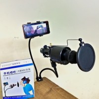 Stand Mic Jepit Clip Holder Microphone Stand Smule Smartphone