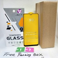 Tempered Glass Full Lem Samsung Galaxy A20 Anti Gores Full Lem