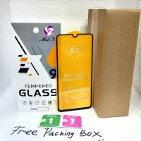 Tempered Glass Full Lem Samsung Galaxy A70 Anti Gores Full Lem