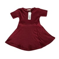 Maroon Simply Dress