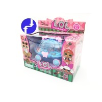 Mainan Anak Make Up LOL Koper Nail Art Kereta Kaca Kencana BIRU 581-6