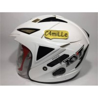 Helm KYT Scorpion King Double visor white putih