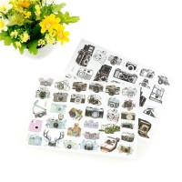 Harga budd id camera adhesive paper sticker diy handmade gift card photo | antitipu.com