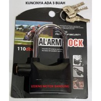 Gembok Alarm Lock Motor Pagar Rumah Gudang Besi Baja Kuat Model Kinbar