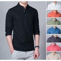 Koko Hitam Lengan Panjang Kameja Muslim Tersedia 8 Variasi Warna Baju