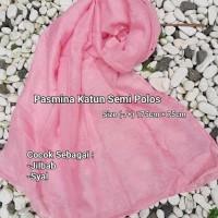 Pasmina Katun Semi Polos Pashmina Syal Selendang Jilbab Souvenir Kado