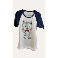 Baju Kaos Bergambar Burung Hantu Untuk Wanita Anak Muda