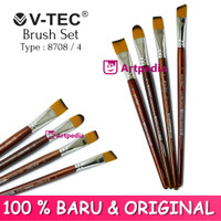 V-TEC Brush 8708 Set 4 - Kuas Lukis Set 4 / Kuas Vtec