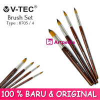 V-TEC Brush 8705 Set 4 - Kuas Lukis Set 4 / Kuas Vtec