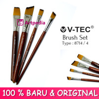 V-TEC Brush 8714 Set 4 - Kuas Lukis Set 4 / Kuas Vtec