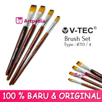 V-TEC Brush 8713 Set 4 - Kuas Lukis Set 4 / Kuas Vtec